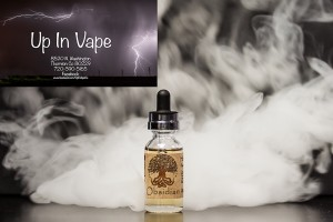 Obsidian Harmony Organic E-Liquid, Up In Vape, Vape Shop Thornton Colorado, 100% Organic VG e-Juice, NO PG, Organic Flavor Extracts