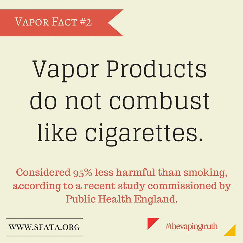 Vapor Fact #2, Vapor Products Do NOT Combust like Cigarettes
