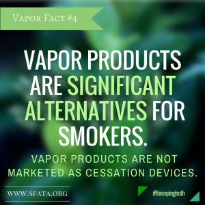 Vapor products are significant alternatives for Smokers. Vapor Products are not marketed as cessation devices, Vapor Shop Denver