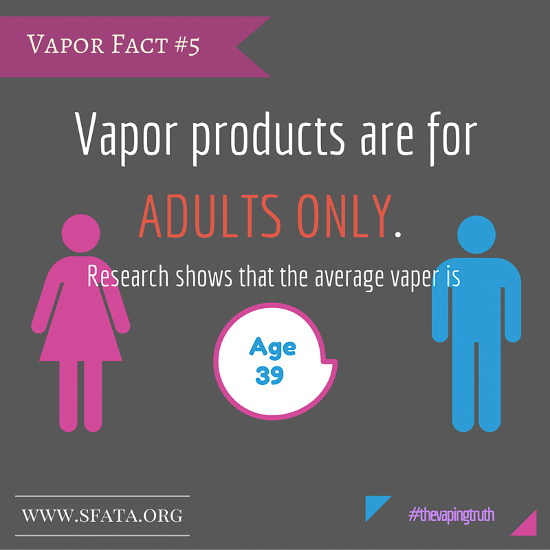 Vapor Products are for Adults Only