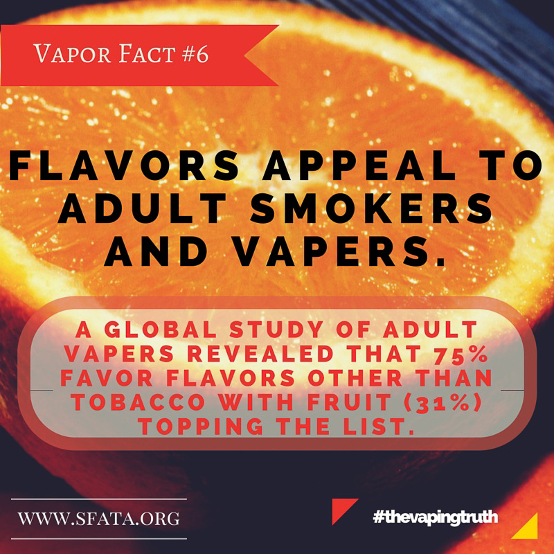 Vapor Flavors Appeal to Adults