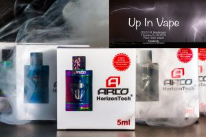 The Horizon Arco Sub-Ohm Tank is a 25mm diameter chassis, threadless top fill sub-ohm tank system that introduces a vacuum plated glass tube (not available for stainless steel version) and the Arco Coil Family. Each Arco Sub-Ohm Tank comes with two coils; an A4 coil that is a 0.2 ohm, parallel quadruple coil that can be run from 70 to 80W and an A6 coil that is a 0.2 ohm, triple vertical coil that can be run fro 80 to 90W. The coils house organic cotton and a flax paper liquid guiding system, making them unique. Airflow enters the Arco Sub-Ohm Tank via dual bottom airslots, measuring at 11mm by 3mm each and are fully closeable. Included with the Arco Sub-Ohm Tank is a 9mm proprietary delrin drip tip and a 510 delrin drip tip adapter for 510 drip tips (sold separately). With its unique vacuum plated glass tubing (not available for stainless steel version) and stylish design, the Horizon Arco Sub-Ohm Tank is the perfect choice at an affordable price. E-Cig Thornton
