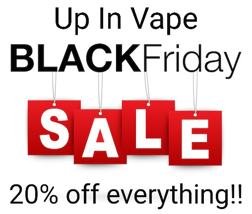 "20% off Store Wide!! Black Friday!! Everything in shop Today! Need e-juice? Need new coils or pods? Need a new setup Come in and see us. Do you have questions about Vape Products? Hit us up. Can not be combined with any other offer or points rewards.  Up In Vape 8520 N. Washington Unit O Thornton Co. 80229 720-390-5165 18 or older to Vape ""WARNING: This product contains nicotine. Nicotine is an addictive chemical.""  . . . . .  Vapor Shop Thornton Up In Vape"